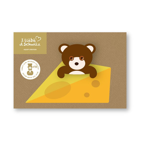Grusskarte Bär & Käse