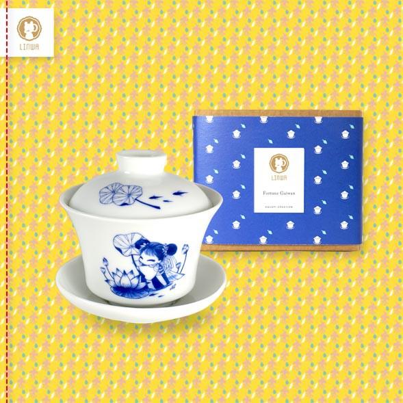 """Linwa Fortune Lotus """"Gaiwan"""" Cup"""
